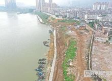 桂平郁江西岸堤路园项目5月份最新图片!